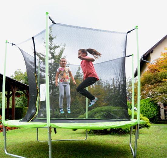 Legoni Fun trampolin sa zaštitnom mrežom i ljestvama, 244 cm, zeleni