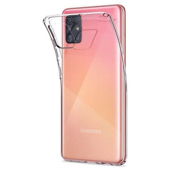Spigen Liquid Crystal silikonski ovitek za Samsung Galaxy A51, pregleden