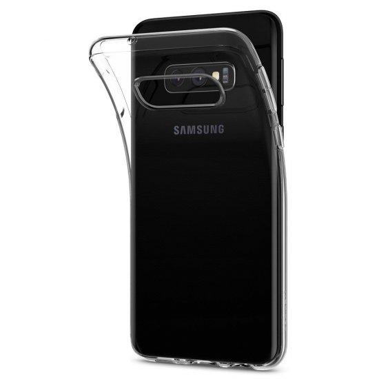 Spigen Liquid Crystal gumené púzdro pre Samsung Galaxy S10e, priesvitné