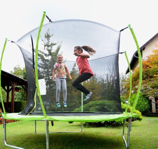 Legoni Space trampolin, z zaščitno mrežo, 305 cm, zelen