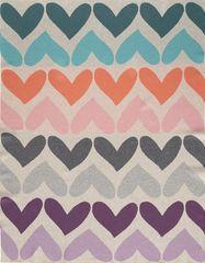 Petite&Mars Harmony Pure Hearts deka, 100% pamuk, 80×100 cm