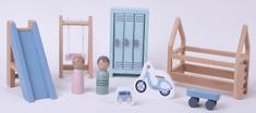 Little Dutch Dřevěný hrací set dětské hřiště 12ks
