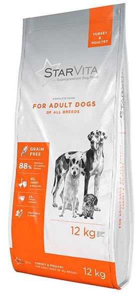 Starvita granule pro dospělé psy krůtí 12 kg