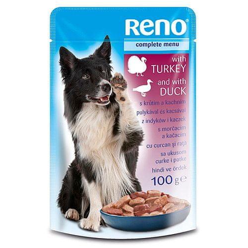 Reno kapsička pre psov 100g morka+kačica