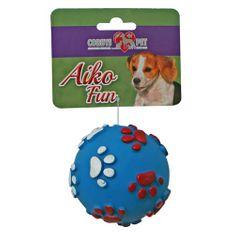 COBBYS PET AIKO FUN Labda lábnyomatos 8cm gumijáték kutyáknak