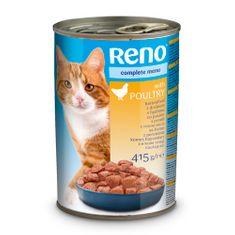 Reno konzerva pre mačky kúsky kura 415g -kúsky