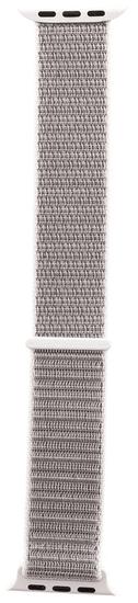 Tactical 547 látkový remienok pre iWatch 1/2/3/4/5 42-44 mm 2449324, strieborný
