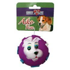 COBBYS PET AIKO FUN Labda kutyussal 9cm gumijáték kutyáknak