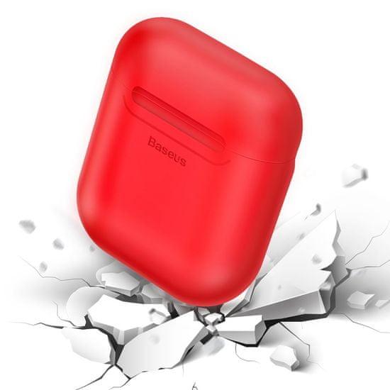 BASEUS AirPods Wireless Charger púzdro na bezdrôtové nabíjanie AirPods, červené