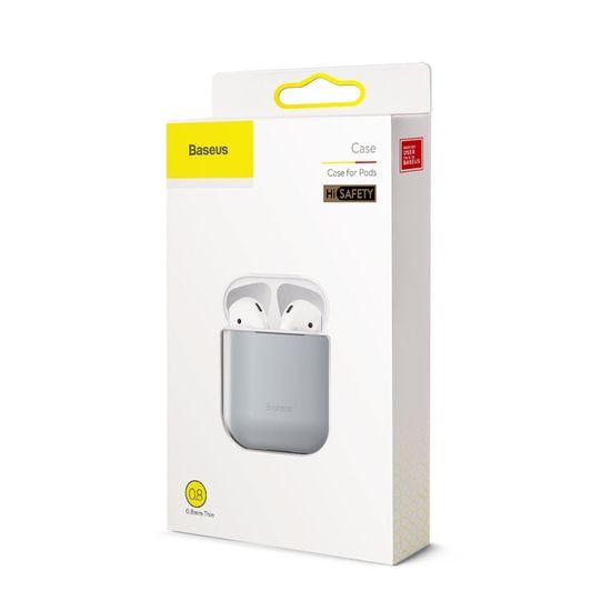 BASEUS Ultrathin Series Silica gumené púzdro pre Airpods 1/2, sivé