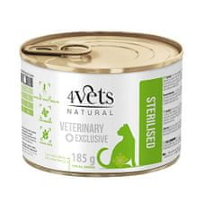 4VETS NATURAL VETERINARY EXCLUSIVE STERILISED 185g cat