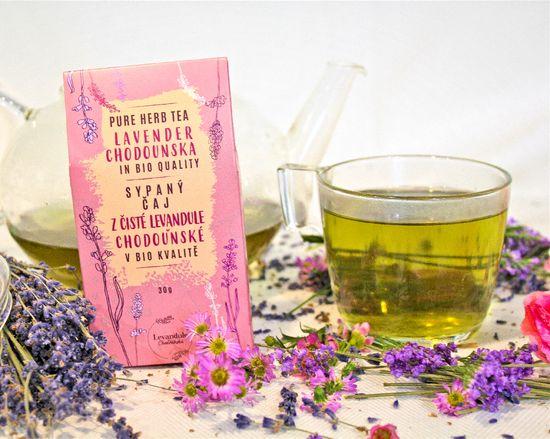 Levandulové údolí BIO sypaný čaj z Levandule Chodouňské