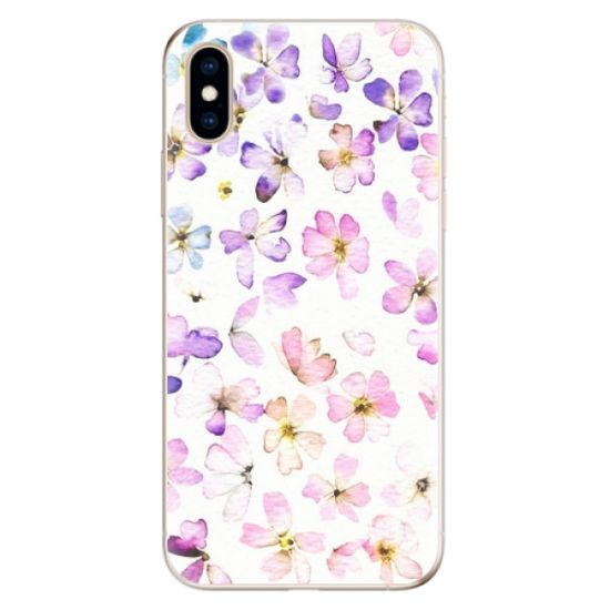 iSaprio Silikonowe etui - Wildflowers na Apple iPhone XS