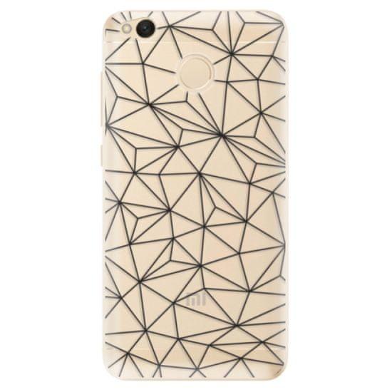 iSaprio Silikonové pouzdro - Abstract Triangles 03 - black pro Xiaomi Redmi 4X