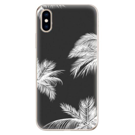 iSaprio Silikonowe etui - White Palm na Apple iPhone XS
