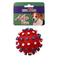 COBBYS PET AIKO FUN Tüskés labda 8,5cm gumijáték kutyáknak