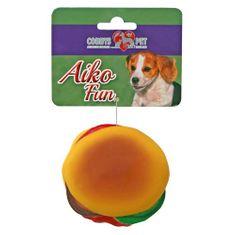 COBBYS PET AIKO FUN Hamburger 8cm gumijáték kutyáknak