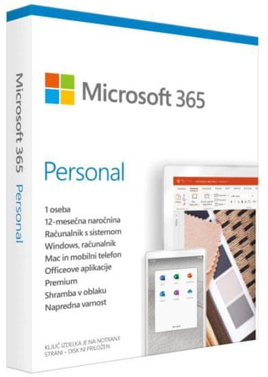 Microsoft 365 Personal 1-letna naročnina, ENG