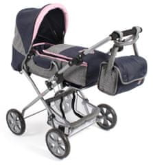 Bayer Chic voziček za lutko BAMBINA, moder/siv/roza