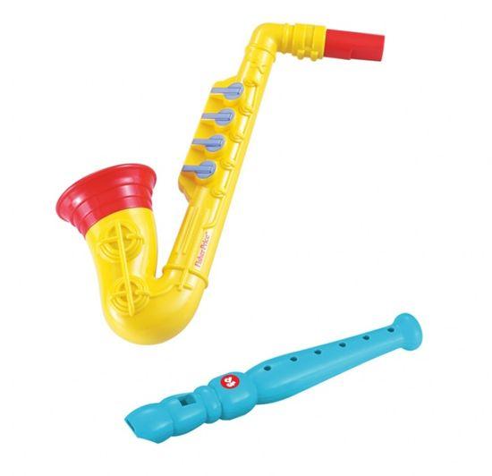 Fisher-Price glasbeni set, saksofon in flavta