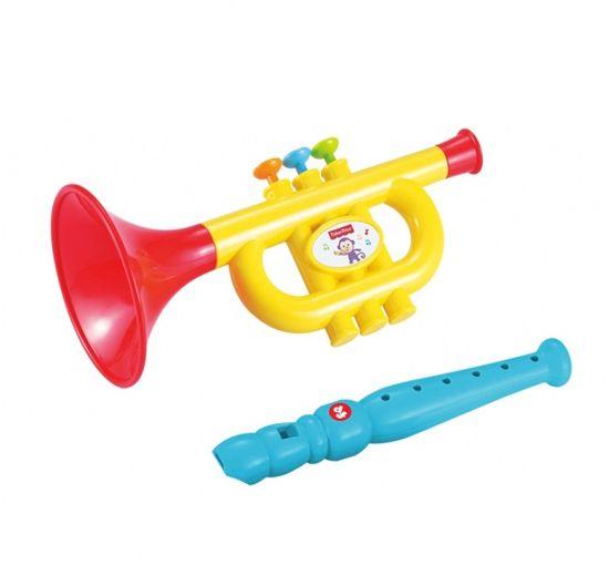 Fisher-Price glasbeni set, trobenta in flavta