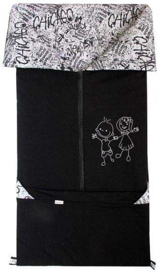 Emitex Fanda 2 v 1 otroška spalna vreča Črna + grafiti - Odprta embalaža