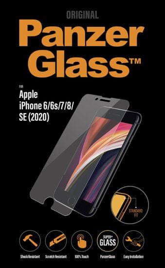 PanzerGlass Standard zaščitno steklo za Apple iPhone 6/6s/7/8/SE (2020), prozorno
