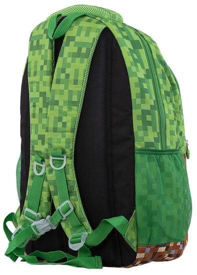 Pixie Crew Kreativní batoh Minecraft zeleno hnědý