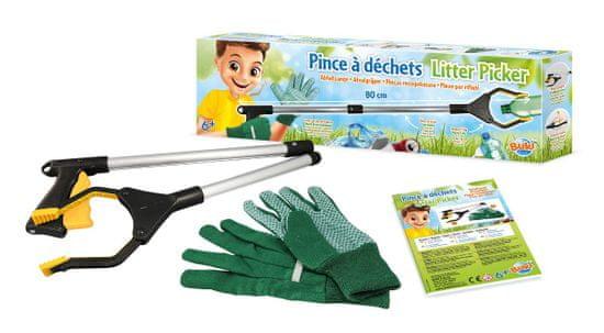 Buki France Sběrač na odpadky + rukavice