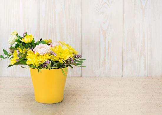 Marex Trade Květináč LIEGI Ø 16 cm, žlutá