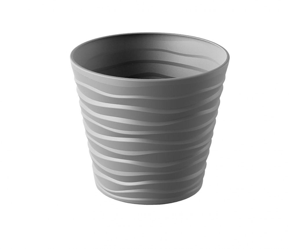 Marex Trade Květináč BORA Ø 40 cm, šedá