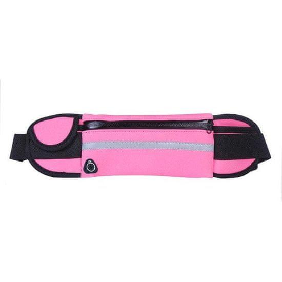 MG Ultimate Running Belt tekaški pas držalo za steklenice, roza