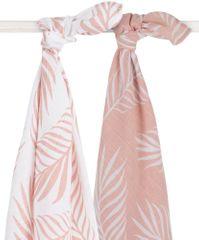 Jollein Osuška 115x115cm (2ks) Nature pale pink