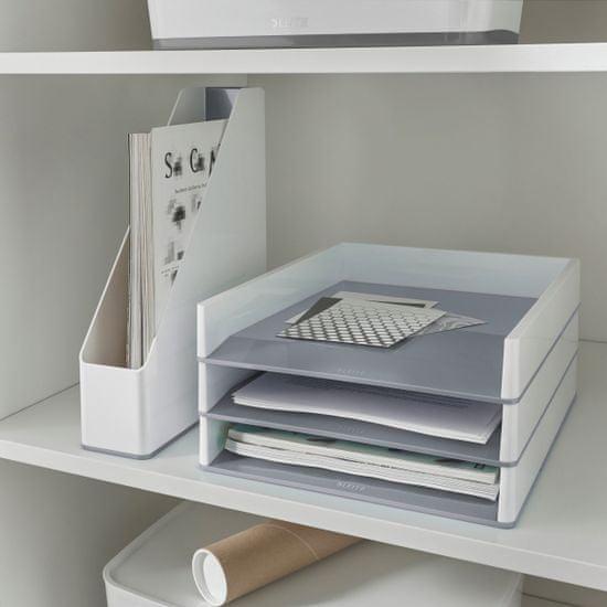 Leitz Stojan na časopisy dvoubarevný WOW bílý/šedý