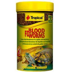 TROPICAL FD Blood Worms 100ml/7g lyofilizované patentky pre plazy a obojživelníky