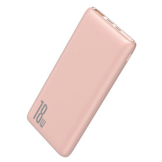 BASEUS Bipow Power Bank 10000mAh, QC 3.0, rózsaszín
