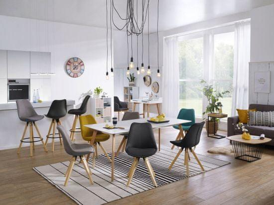 Bruxxi Jedálenská stolička Otto (súprava 2 ks), svetlosivá