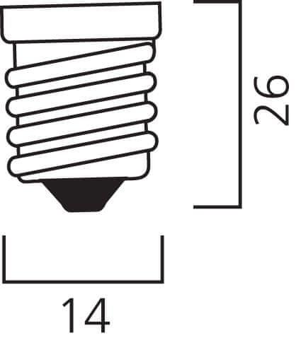 Diolamp SMD LED žárovka matná Ball P45 7W/230V/E14/4000K/580Lm/180°/A+