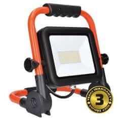 Solight  LED přenosný reflektor 100W/230V/5000K/8500Lm/IP65, oranžovo-černý se stojanem