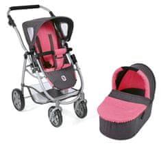 Bayer Chic otroški voziček EMOTION 2v1, roza/siva