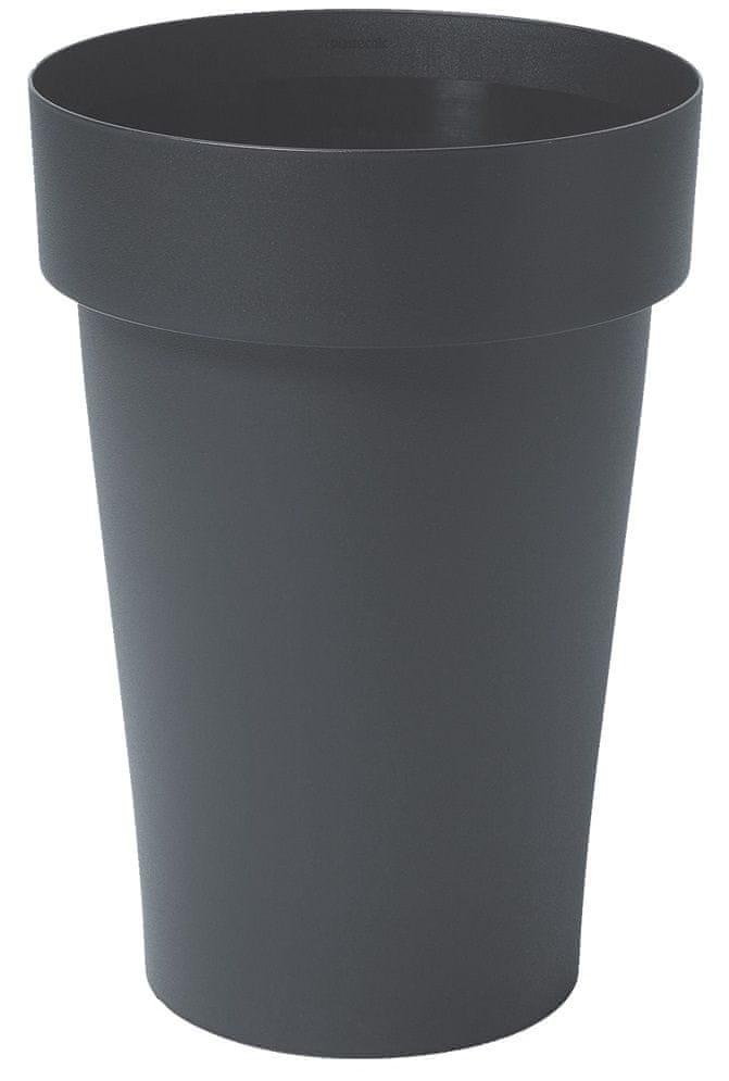Marex Trade Květináč MELROSE Ø 40 cm, vysoký 65 cm, antracit