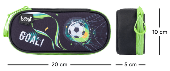 BAAGL školska pernica kompakt Footbal