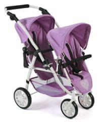 Bayer Chic voziček za dve lutki Lila