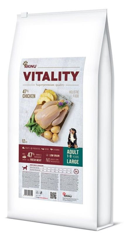 Akinu VITALITY dog adult large chicken 12 kg