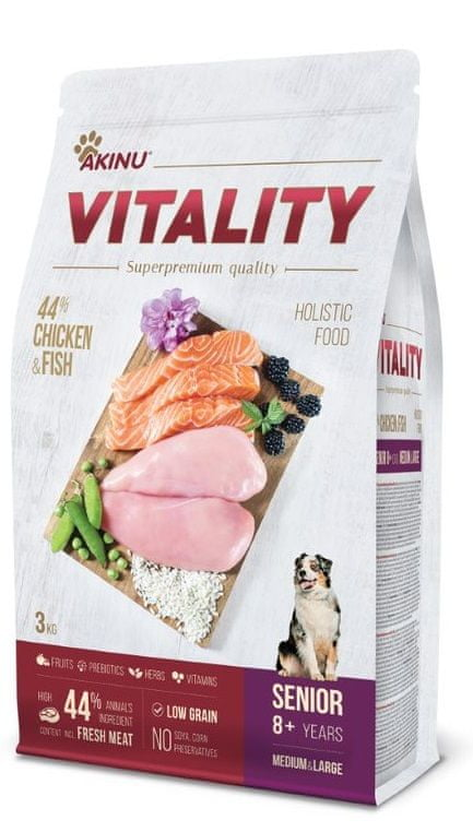 Akinu VITALITY dog senior medium/large chicken & fish 3 kg