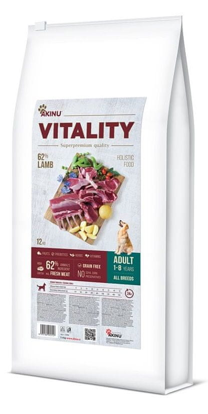 Akinu VITALITY dog adult hypoallergic lamb 12 kg
