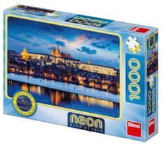 Dino Pražský hrad 1000 neon puzzle