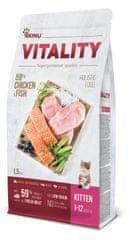 Akinu hrana za mačke VITALITY cat kitten chicken & fish, 1,5 kg