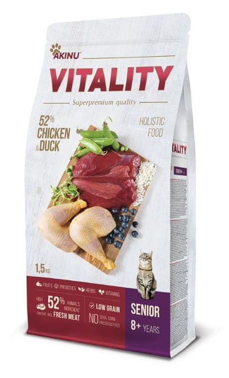Akinu VITALITY cat senior chicken & duck 1,5 kg