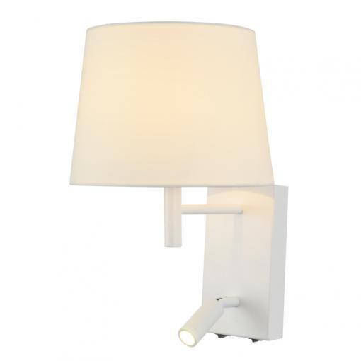 ACA LED nástěnná lampička s vypínačem STOF 3W/230V/3200K/210Lm/60°/IP20, bílá